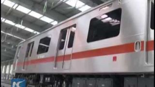 China's first driverless metro trains roll off assembly line